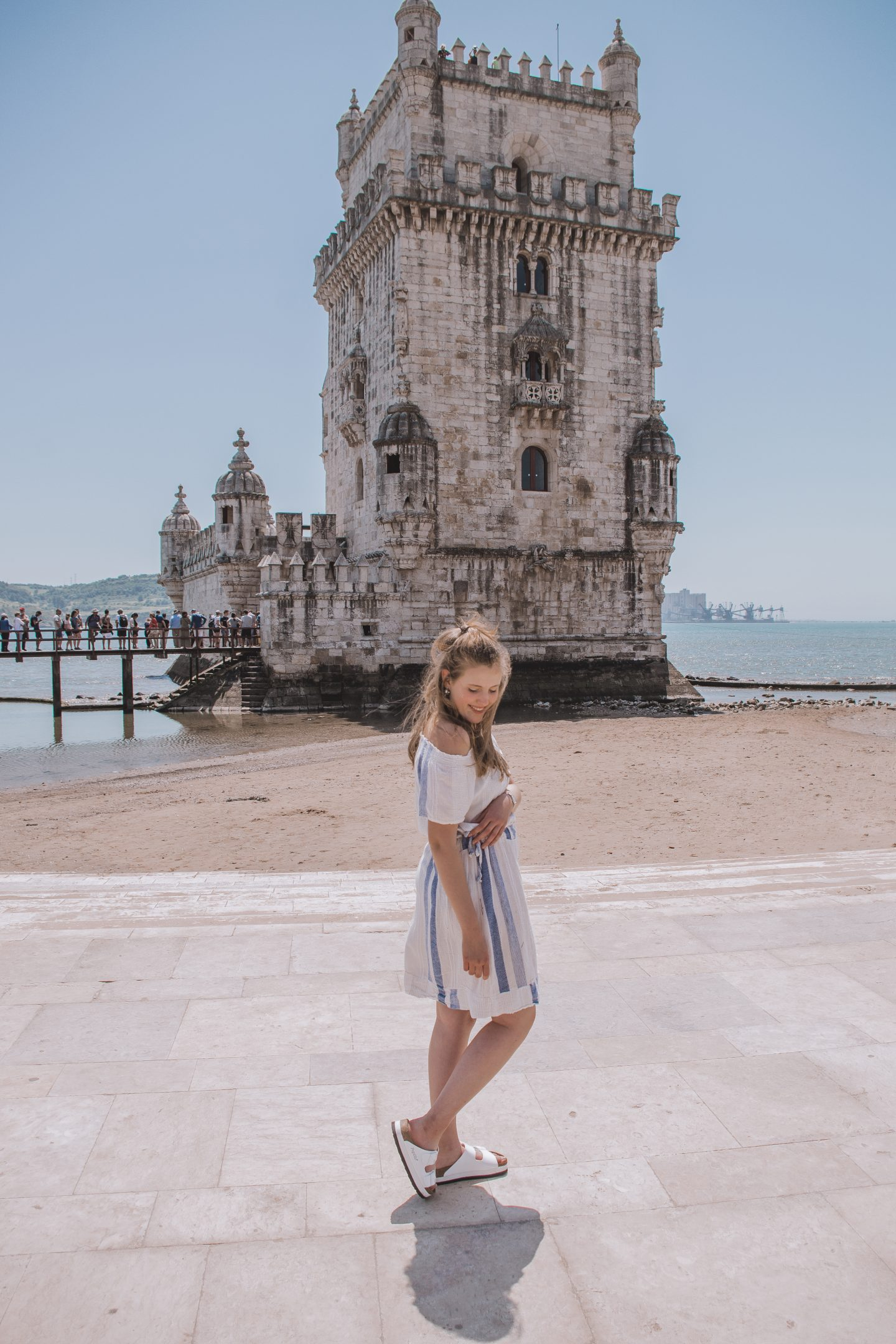 The Striped Off-Shoulder Dress |Lisbon