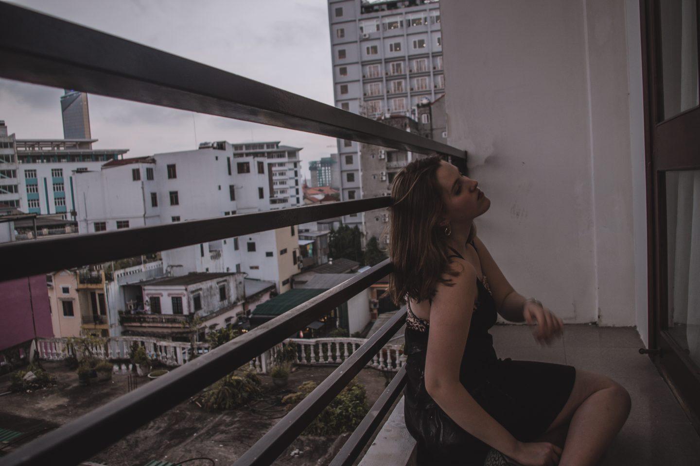 Black dress & leo bandeau |Hué